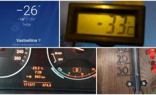 ФОТО | На термометре -33 градуса. Смотрите, как холодно было в разных уголках Эстонии