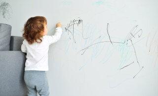 Kui laps joonistab vildikaga seinale või vaibale, ei tasu ahastusse sattuda, sest see lihtne vahend teeb kõik puhtaks