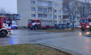 ФОТО | Читатель: На улице Паэ пожарные, скорая, полиция. Что происходит?