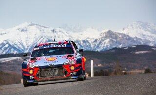 ФОТО: Тянак проигрывает на Ралли Монте-Карло лидеру 25 секунд