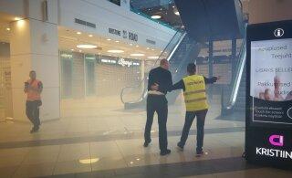 ФОТО: Что происходит? Торговый центр Kristiine полон дыма. На месте полиция, спасатели и медики