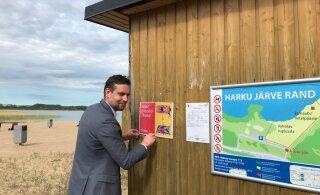 На пляжах столичного Хааберсти появились информационные плакаты для отдыхающих