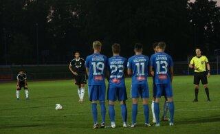 FOTOD | Tartu Tammeka hoidis Nõmme Kalju nulli peal, viis mängijat riietusruumi minna ei tohtinud