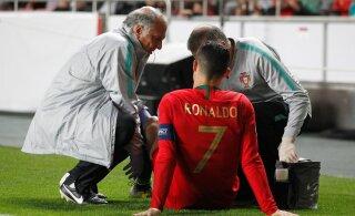 Koondisesse naasnud Cristiano Ronaldo sai vigastada. Kas tähtsad Meistrite liiga mängud ohus?
