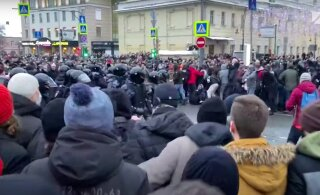 Питерская полиция извинилась перед женщиной, которую ударил в живот ОМОНовец