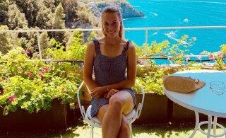 ФОТОНОВОСТЬ: Первая ракетка Эстонии наслаждается отдыхом в Италии