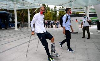 FOTO | Mis juhtus? PSG peatreener saabus Lissaboni karkudel