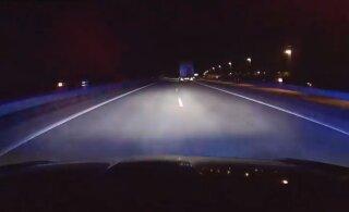 На шоссе Таллинн — Нарва задержан нетрезвый водитель грузовика