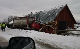 В Йыгевамаа погиб водитель грузовика