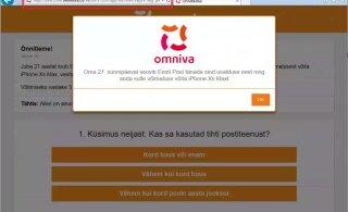 Внимание! От имени Omniva мошенники рассылают рекламу, обещая в подарок бесплатный телефон