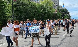 В Хабаровске прошли три стихийных митинга в поддержку губернатора Фургала
