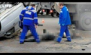 ВИДЕО: В Пензе два человека сварились заживо, когда их автомобиль провалился в яму с кипятком