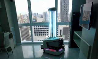 FOTOD | Hiina haiglaid puhastavad koroonaviirusest sellised robotid