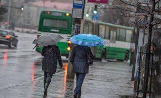 Sel nädalal püsib ilm mõõdukalt soe, kuid endiselt sajab