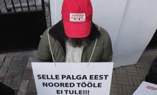 ФОТО С ТООМПЕА | Спасатели требуют у правительства повышения зарплаты