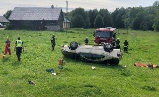 ФОТО | В аварии на шоссе Таллинн — Тарту погиб водитель