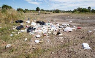 ФОТО: Бутылки из-под водки, мусор и сожженный диван: что оставили жители Ласнамяэ на Локаторах после празднования Ивановой ночи