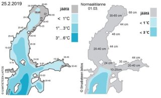 Kas globaalse soojenemise mõju? Läänemeri on praegu peaaegu täielikult jäävaba