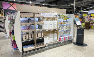 ФОТО | В некоторых гипермаркетах Rimi можно приобрести шампуни и жидкое мыло в свою тару