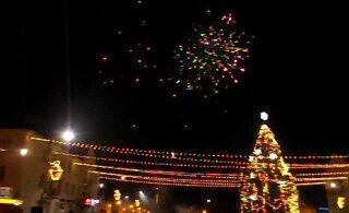 ВИДЕО | Смотрите, как в Кохтла-Ярве встречали Новый год в центре города
