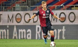 Cagliari jäi napilt võidust ilma, Klavan vahetati juba poolajal välja