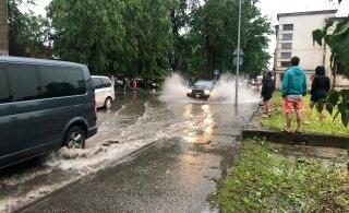 VIDEO ja FOTOD   Äikesetorm põhjustas Viljandis uputuse, segadus on tekkinud ka pealinnas