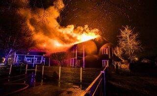 ФОТО | Судьба гостевого дома в Рапла под вопросом. Пожар нанес серьезный ущерб