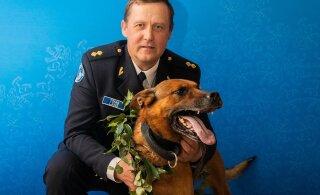 FOTOD   Selgusid Eesti parim koerajuht ja parim teenistuskoer