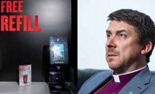 Скандал в таллиннском KFC: архиепископу Урмасу Вийльма не понравились надписи на английском языке