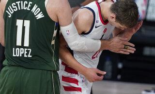 VIDEO | Antetokounpo lõi Wizardsi mängijat peaga, eemaldati mängust ja peab ka järgmise vahele jätma