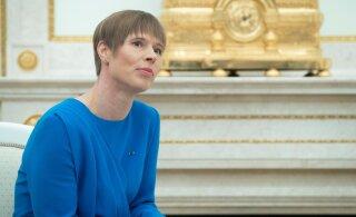 ПРЯМОЕ ВКЛЮЧЕНИЕ: Пресс-конференция президента Кальюлайд в Москве