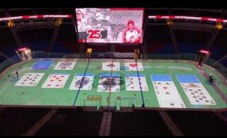 КУРЬЕЗ ГОДА | Работник ледовой арены раскладывал пасьянс во время матча НХЛ