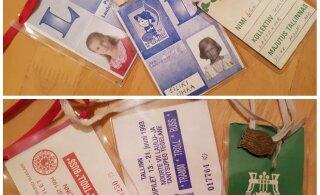 JUUBELIPIDU 150   Vanu fotosid asendavad kaelakaardid ja ja laulupeomärgid