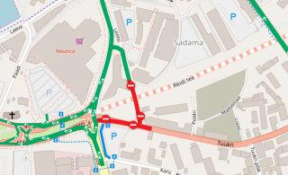 КАРТА: Изменилась организация движения на перекрестке Ахтри в центре Таллинна