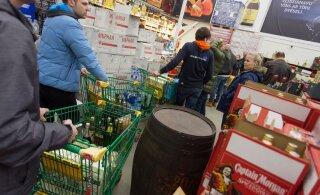 Kas alkoholi piirikaubanduse lõpp? Goalco alustas Ainaži alkopoes lõpumüüki