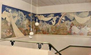 ВИДЕО | Вместо красочной фрески — белые стены. В Ныммеском доме призрения уничтожили произведение искусства?