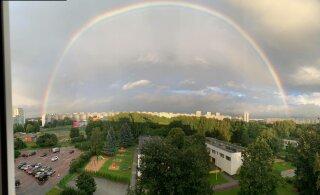 ФОТО читателя Delfi | Смотрите, какая идеальная радуга была видна на небе Таллинна!