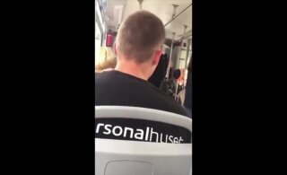 ВИДЕО | Пассажир таллиннского трамвая выкрикивал расистские оскорбления. Его ищет полиция