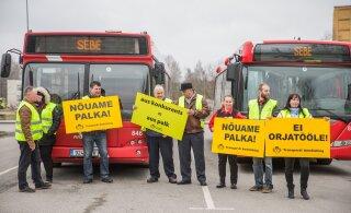 Bussijuhid valmistuvad rasketeks palgakõnelusteks