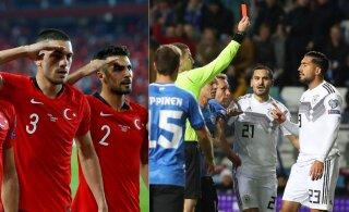 Tallinnas mänginud Saksamaa jalgpallurid sattusid suurde poliitilisse skandaali