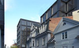 ФОТО | На месте цветочного магазина, закусочной и дома на углу площади Вабадузе появится новое здание