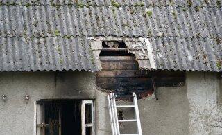 ФОТО | В пожаре на хуторе в Пярнумаа погибли два человека