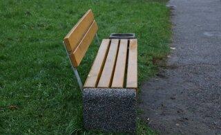 ФОТО: Смотрите, как выглядят новые скамейки в Ласнамяэ
