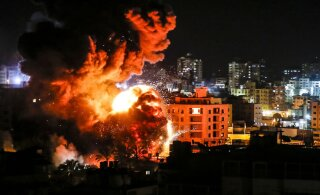 Iisrael ründas vastuseks elumaja tabanud raketile Hamasi sihtmärke Gazas