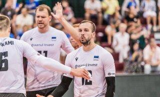 Võrkpallikoondis alistas kolmandas mängus Läti otsustavas geimis