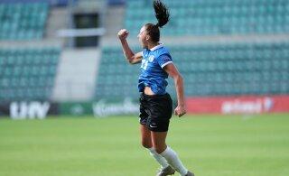 Naiste jalgpallikoondis alistas viieaastase pausi järel Läti, värav otse nurgalöögist