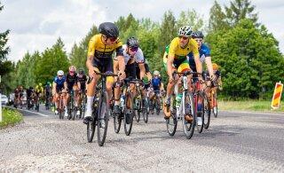 """ФОТО: Тройная победа эстонских велогонщиков на """"Балтийской цепочке"""""""