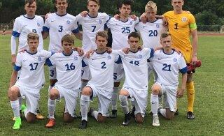 Eesti jalgpallinoored kaotasid Prantsusmaale kindlalt