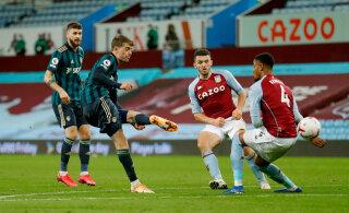 Liverpoolile seitse väravat tagunud Aston Villa sai uustulnukalt sauna