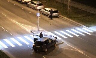 ФОТОНОВОСТЬ читателя: ночью в Ыйсмяэ произошло ДТП
